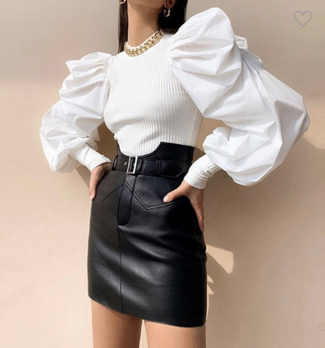 Exaggerated Sleeve Blouse
