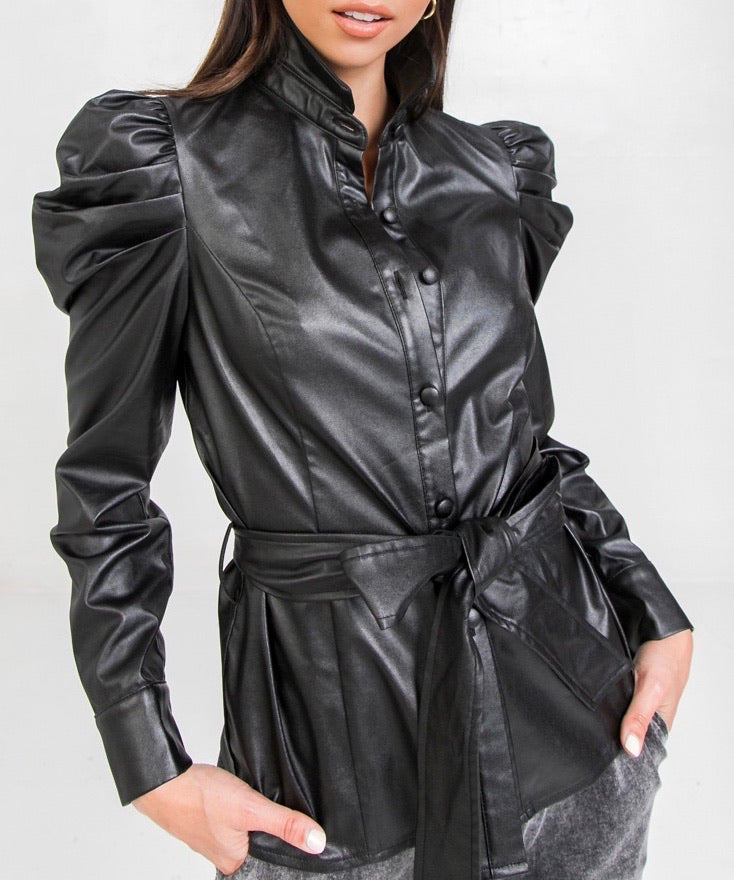 Leather Power Shirt