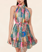 Load image into Gallery viewer, Scarf Mini Dress