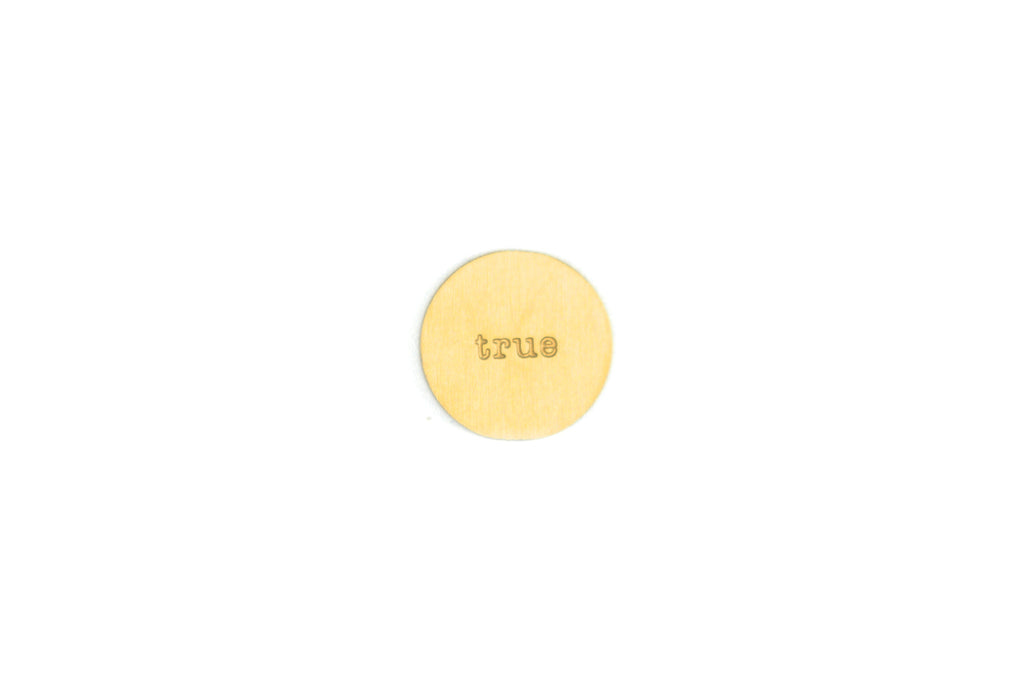 Gold True Plate Small