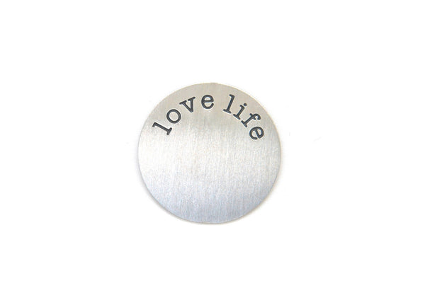 Silver Love Life Plate
