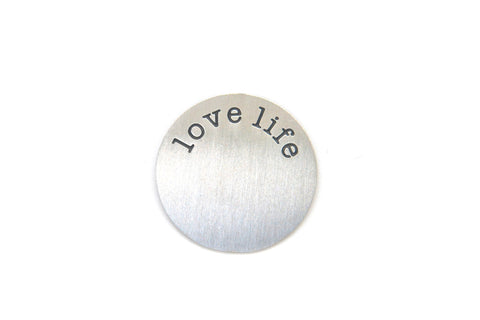Silver Love Life Plate - LOVE K LONDON