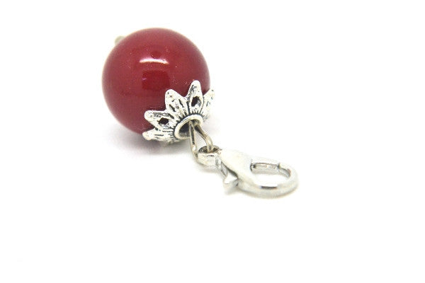 Cherry Red Pearl Dangle