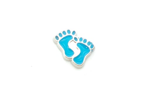 Blue Baby Feet Charm - Love K London
