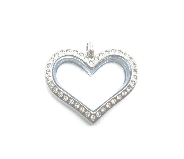 Heart Locket with Crystals