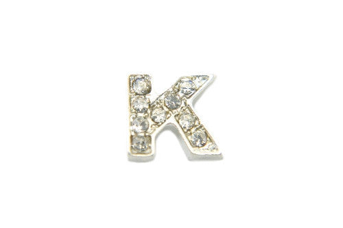 Crystal Silver K Initial