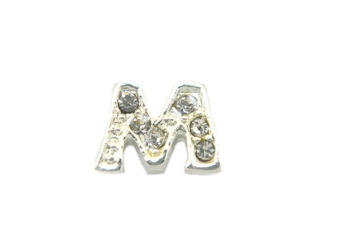 Crystal Silver M Initial