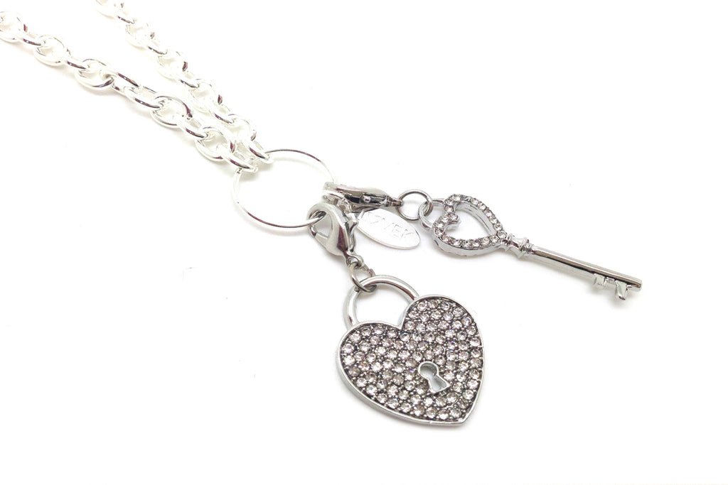 Silver Lock & Key Necklace