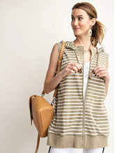 Load image into Gallery viewer, Lined-In Stripe Hoodie Vest
