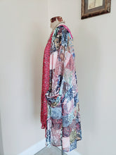 Load image into Gallery viewer, Sheer Animal Scarf Mixed Print Kimono