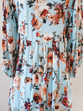 Load image into Gallery viewer, [Plus] Floral Print Puff Sleeve Babydoll Dress