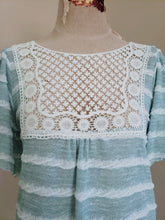 Load image into Gallery viewer, Stripe Kitted Top with Crochet Detail