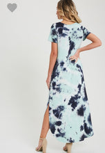 Load image into Gallery viewer, Tie-Dye Short-Sleeve V-Neck Maxi Dress