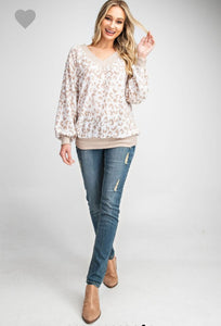 Leopard Print V-Neck Knitted Top