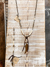 Load image into Gallery viewer, Natural Rustic Wing Necklace