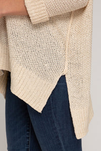 Solid 3/4 Sleeve Knitted Sweater