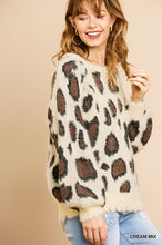 Load image into Gallery viewer, FUZZY LEOPARD PRINT SOFT SWEATER