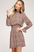 Load image into Gallery viewer, Leopard Print Long-Sleeve Mini Dress