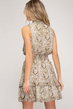 Load image into Gallery viewer, Snake Print Sleeveless Mini Dress