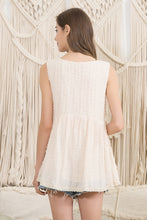 Load image into Gallery viewer, Sleeveless Top with Fringe Detail