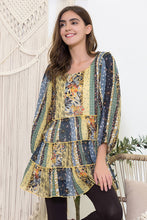 Load image into Gallery viewer, Floral Print Chiffon Tunic