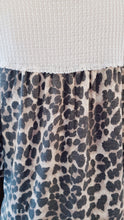 Load image into Gallery viewer, Leopard Print Ruffle-Sleeve Waffle Knit Top - Plus Size