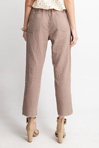 Striped Mid-Waist Gauze Tie-Front Pants