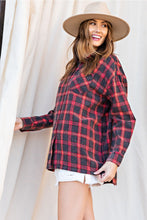 Load image into Gallery viewer, PLAID LOOSE-FIT BUTTON-DOWN SHIRT