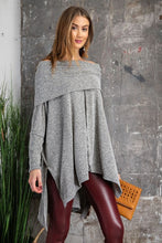 Load image into Gallery viewer, SOLID LOOSE-FIT PONCHO PULLOVER