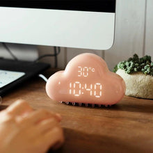 Load image into Gallery viewer, LED Light Cloud Alarm Clock Digital