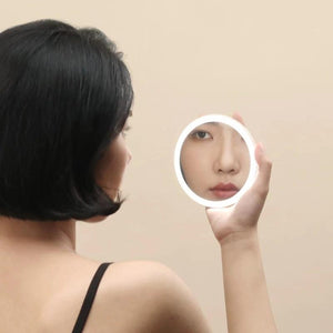 Mini Handheld Cosmetic Makeup Mirror LED Light