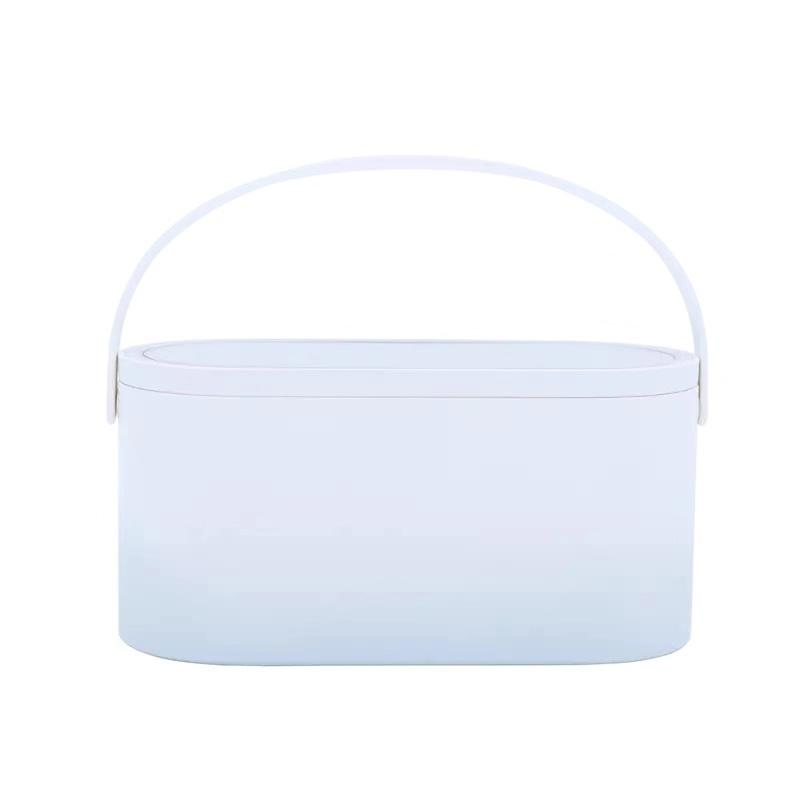 Portable Travel Gradient Color Cosmetic Makeup Mirror LED Light - Oval