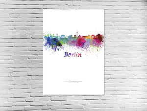Berlin Skyline in Wasserfarben