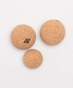 Natural Cork Massage Ball Trio