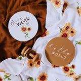 Snuggle Hunny Kids Sunflower & Bronze Milestone Cards.