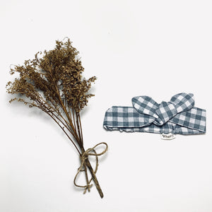 Love Henry Blue Gingham Headband