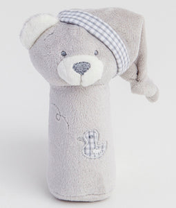 Gingerlilly Grey Squeeker Bear Toy