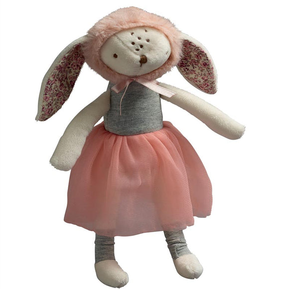 Bunny with Bonnet Rattle