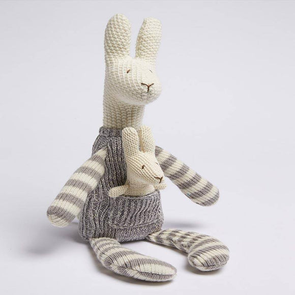 Natural Knit Kangaroo & Joey