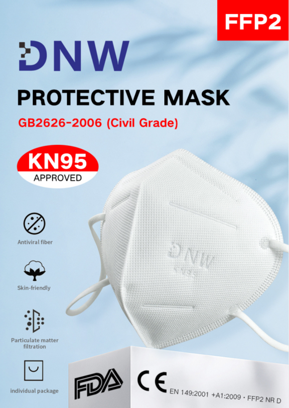 (In-Stock Now!) DNW Premium KN95 Face Mask - 50 Pack - $2.6/piece