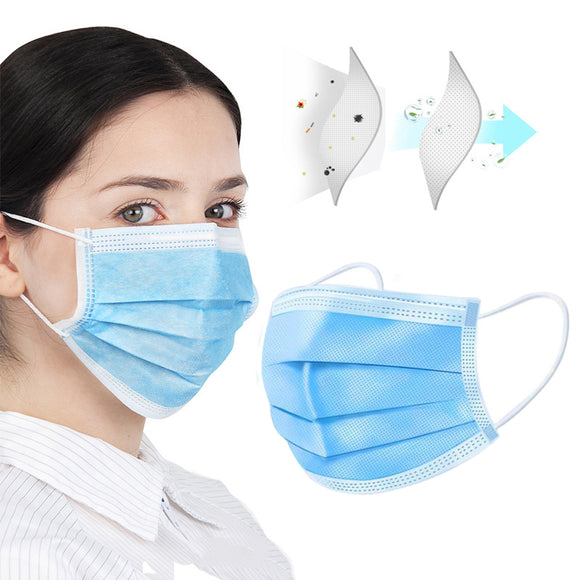 (In Stock Now!) FDA Registered 3-Layer Disposable Face Mask - Pack of 50