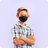 Kids - Reusable Black PM2.5 Mask (with Filter)
