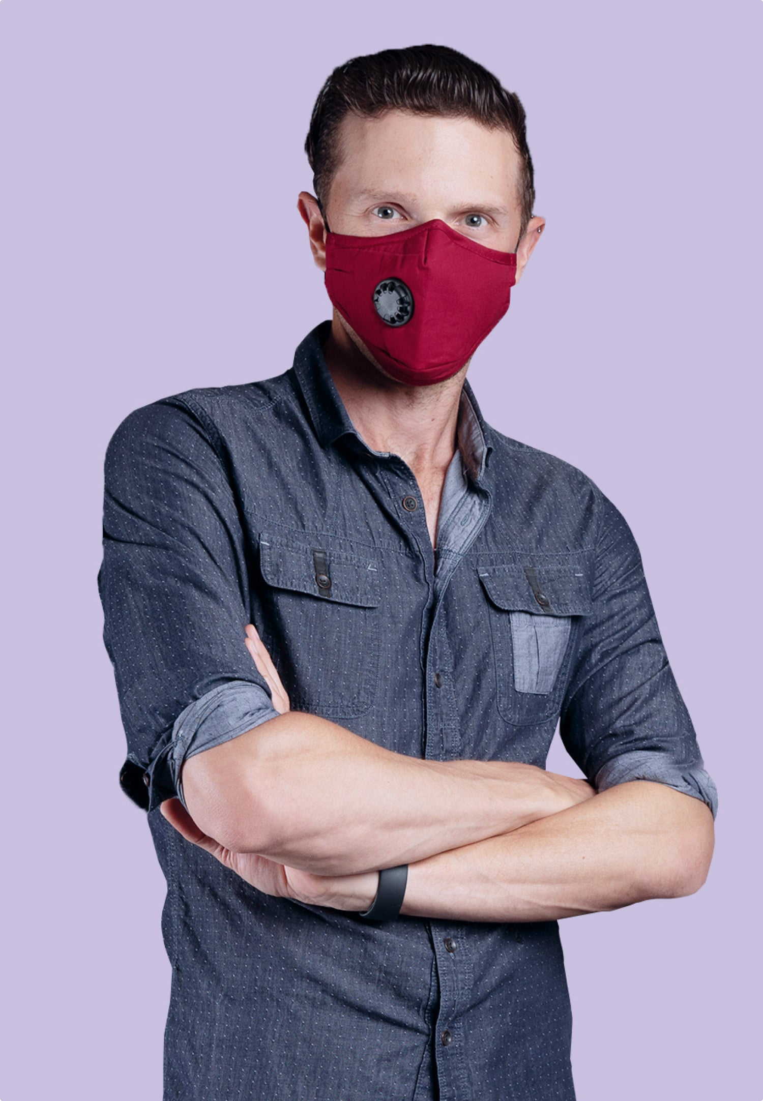 Reusable Red PM2.5 Mask (with Filter)