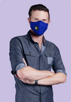Reusable Navy Blue PM2.5 Mask (with Filter)