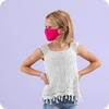 Kids - Reusable Bright Pink PM2.5 Mask (with Filter)
