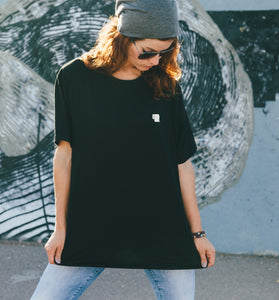 Toilet Paper T-Shirt in Black (embroidered) - Unisex