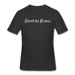 Saved by Grace T-Shirt - black