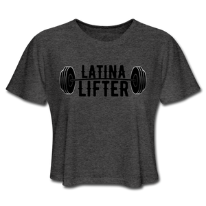 Latina Lifter Crop Top - deep heather