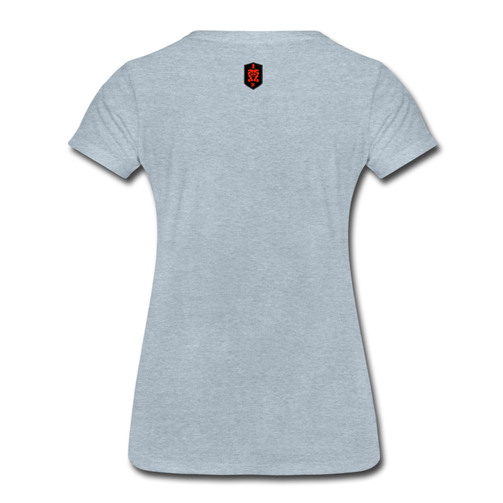 Women's Red Logo T-Shirt - heather ice blue