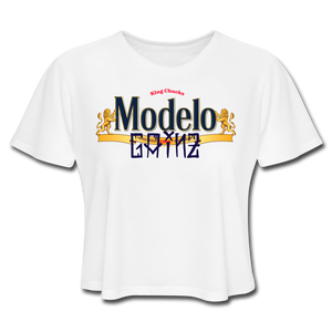 Open image in slideshow, Modelo Gainz Women's Crop Top - white